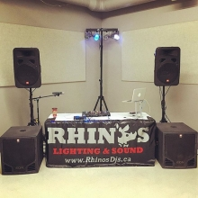 DJ BOS5 is setup and ready to go, in white city for a wedding.