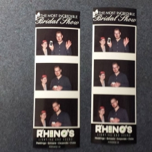 Take a picture at our photo booth and enter to win a free lighting upgrade!  See you at the bridal show.  #2016mibs #yqrweddings #yqr #weddings #weddingdj #skweddings #rhinosdjs