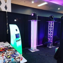 A Wedding Expo going on today at Queensbury #aweyqr #yqrweddings #photobooth #weddingdj #movinglights #rhinosdjs