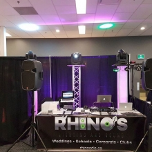 Ready to go for A Wedding Expo going on today at Queensbury #aweyqr #yqrweddings #photobooth #weddingdj #movinglights #rhinosdjs