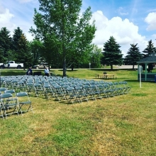 K-Dub's setup for an afternoon ceremony in Wolseley.
