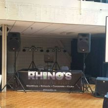 K-Dub and Brayden at the Turvey Center tonight. #fridaywedding #mobiledj #yqrweddings #skweddings #dj #lightingdesign #weddingdj #rhinosdjs