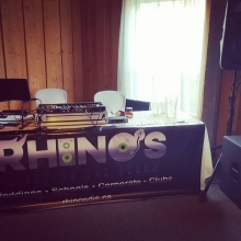 Ryder ready to go in #Asessipi Manitoba.  We travel anywhere.  #skdjs #mbdjs #rhinosdjs