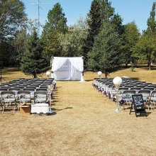 Afternoon Ceremony in the park.