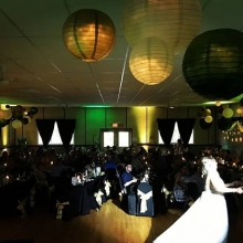 Green and Gold #uplighting