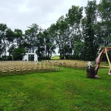 Backyard #ceremony #halbrite