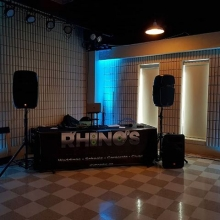 K-Dub and DJ Marley at The Turvey Center lounge for an Up Lighted #wedding reception.