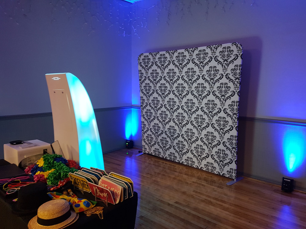 Open Air Photo Booth setup for an Event at the Victoria Club