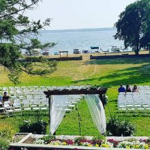 Afternoon ceremony setup out at Kenosee.