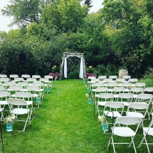 Afternoon outdoor ceremony.