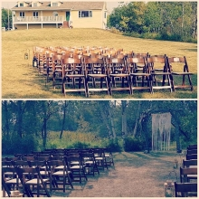 Afternoon wedding ceremony at Country Acres near #McLean.