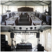 DJ Dumo and A-a-ron all set for a #wedding reception. Congrats!