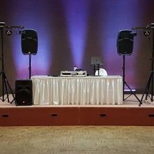 DJ K-Dub ready to go for a #wedding reception. Congrats to the newlyweds!