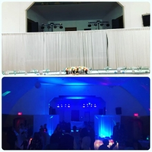 Backdrop is down now time to get the party started. DJ Boss in Southey tonight. Congrats to the newlyweds!