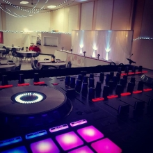 DJ K-Dub all set for the reception in Weyburn.