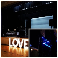 DJ K-Dub and DJ Bara in Assiniboia for a wedding reception.  We provided MC,  DJ and lighting services.