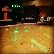 DJ K-Dub ready to rock this company Christmas party.