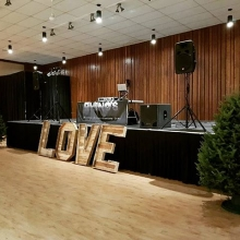 K-Dub setup for a #winterwedding in #esterhazy