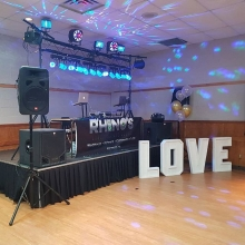 DJ K-Dub & DJ Bara ready to rock a #winterwedding reception in Langenburg tonight.  Congrats to the newlyweds!