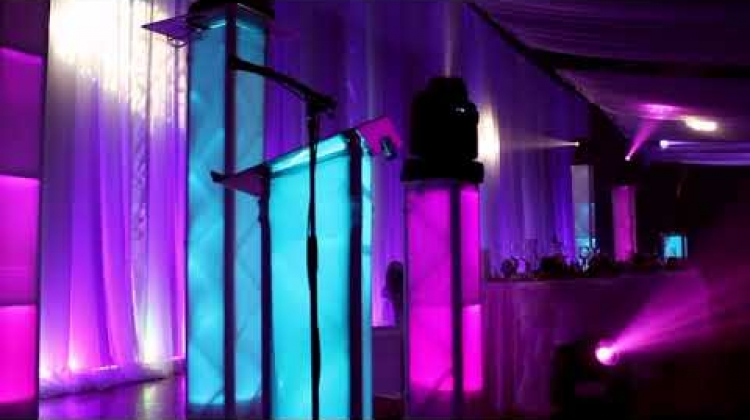 The Bling Enhanced Moving Head Light Show at a Wedding