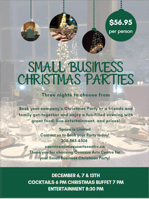 Conexus Small Business Christmas Party Regina 2020 Regina Small Business Christmas Party